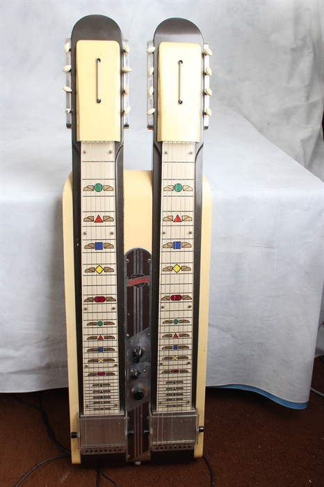 National Used 1947 Grand Console Model 1050 Double Neck Lap Steel
