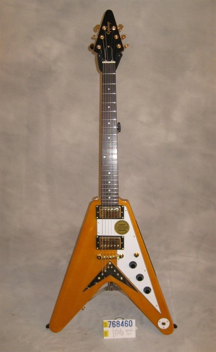 epiphone new 1958 korina flying v electric guitar mandolin brothers ltd. Black Bedroom Furniture Sets. Home Design Ideas